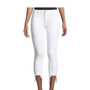 Hudson Cropped White Jeans